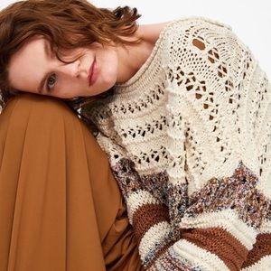 Zara Knit Sweater Oversized M-L